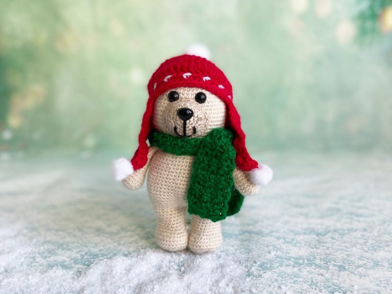 Christmas bear crochet pattern book hat