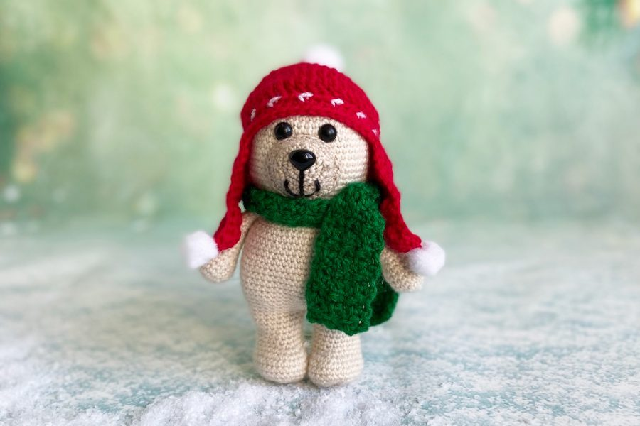 Christmas bear crochet pattern