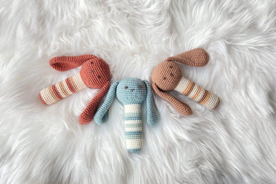 konijntjes rammelaar haakpatroon